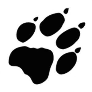 Logo pootafdruk. Dierenarts Bergen op Zoom