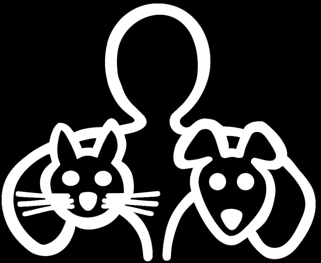 Dierenkliniek Ter Gouwe. Logo wit